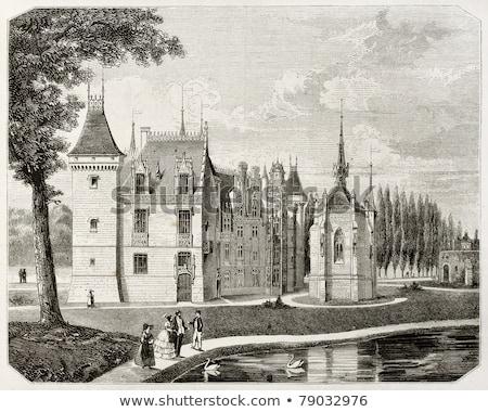 kasteel · centrum · Frankrijk · water · gebouw · architectuur - stockfoto © phbcz