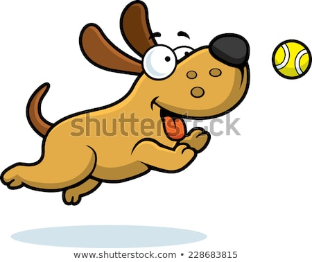 Cartoon chien tennis illustration jouer balle Photo stock © cthoman