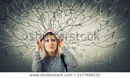 Thoughts Over Woman's Head Stock photo © AndreyPopov
