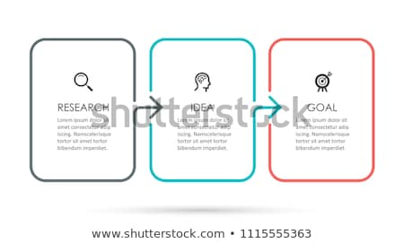 three steps template stock photo © orson