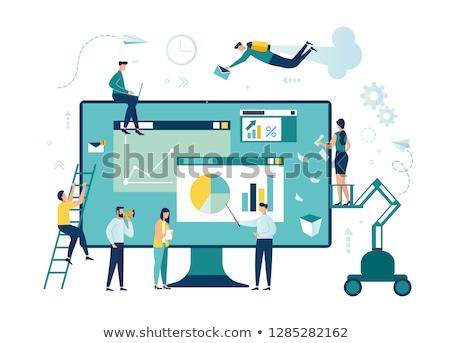 Dolgozik feladat csapatmunka szett háló oldalak Stock fotó © robuart