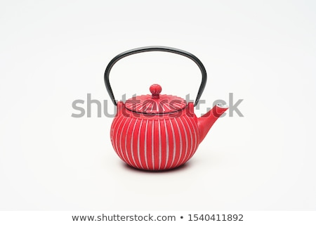 Traditional eastern metal teapot and iron cups Stock photo © dash