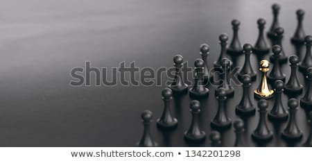 spot best job candidate standing out from the crowd stock photo © olivier_le_moal