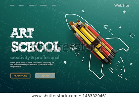 Volver a la escuela anunciante ninos libros lectura Foto stock © robuart