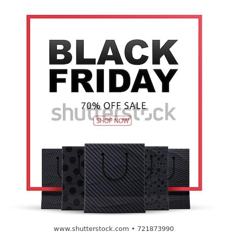 Black friday alışveriş çantası metin dizayn yalıtılmış beyaz Stok fotoğraf © hittoon