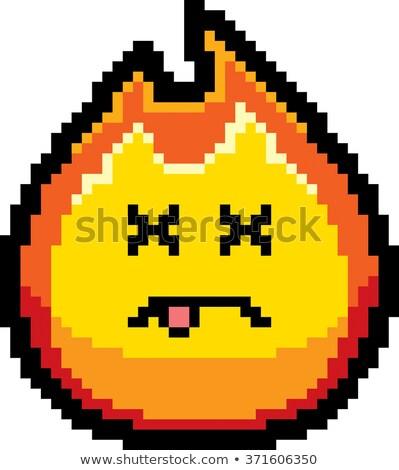Morti cartoon fiamma illustrazione guardando stile Foto d'archivio © cthoman