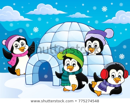 Stylized penguin topic image 3 Stock photo © clairev