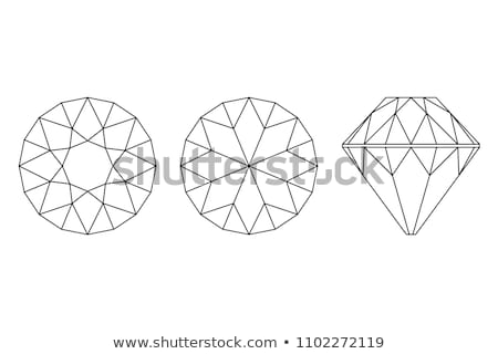 top and bottom view of large diamond Stock photo © Arsgera