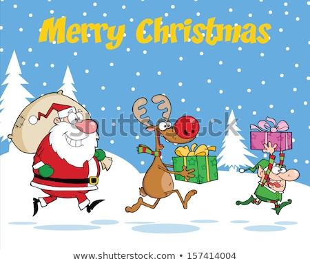 Elfo natal dom saco ilustração Foto stock © colematt