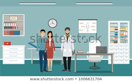 Doctor and two patients in clinic Stock photo © colematt