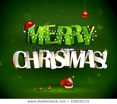 Felicitatie vrolijk christmas kaart vector Stockfoto © robuart