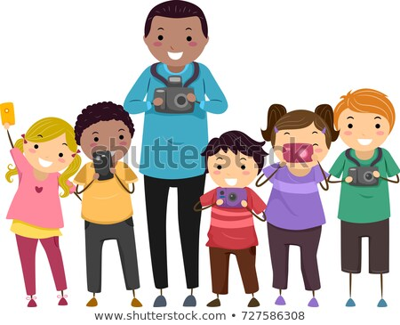 Stickman Kids Photography Club Illustration Stock photo © lenm