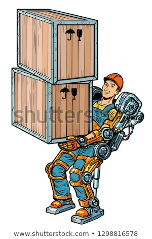 container loader. working in the exoskeleton Stock photo © studiostoks