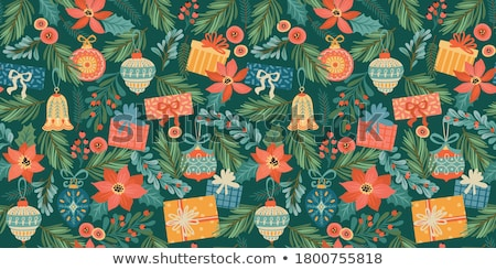 seamless pattern with christmas balls stock photo © balasoiu
