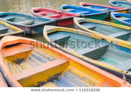 detail of the colorful wooden boat stock photo © boggy