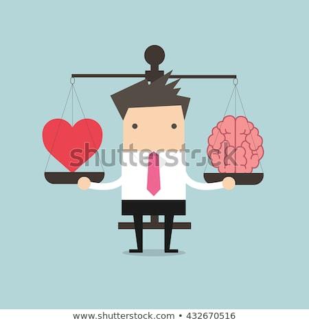 mindfulness at work   flat design style illustration stock photo © decorwithme