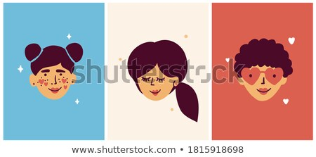 Womens Day banner of young and old women head Stock photo © cienpies
