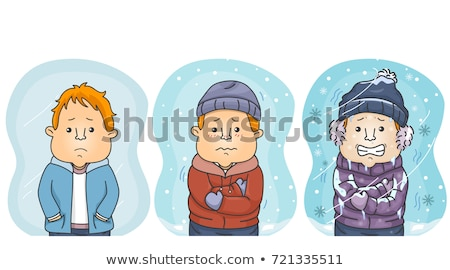 Uomo confronto freddo illustrazione tre uomini Foto d'archivio © lenm
