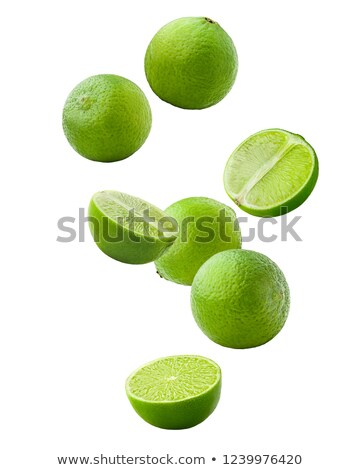 green lime levitated on a white background Stock photo © butenkow
