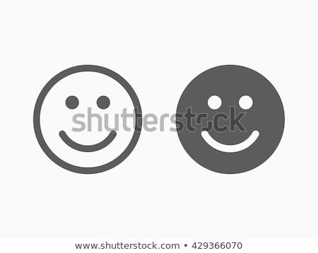 Foto stock: Vetor · conjunto · sorrir · faces · ícones · diferente