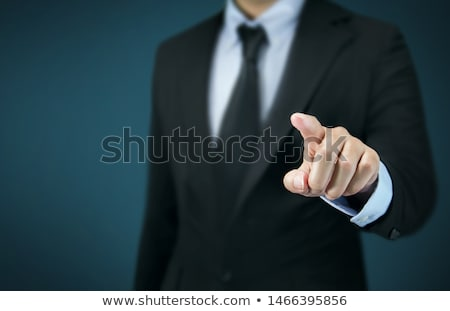 Front View Of Man Pointing His Finger Down Stock photo © AndreyPopov