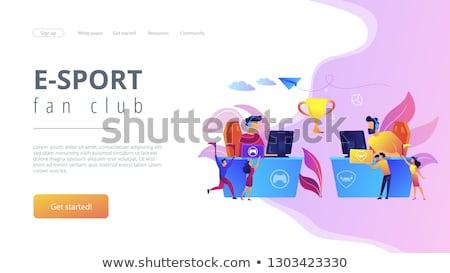 Zdjęcia stock: E Sport Fans Landing Page Template