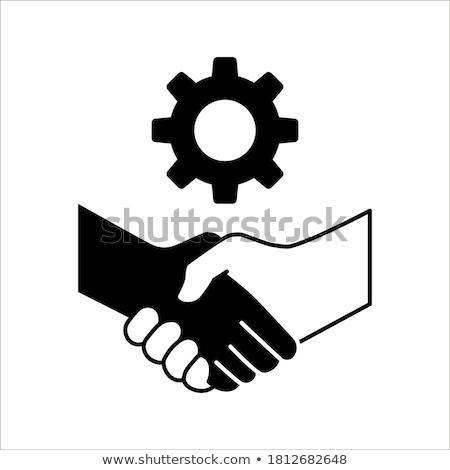 Gear related vector glyph icon. Stock photo © smoki