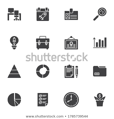 identification card flat related vector glyph icon stock photo © smoki