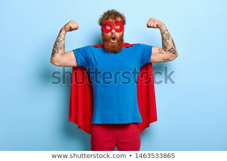 Superheroes in blue and red outfit Stock photo © bluering