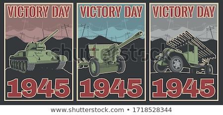 Monde guerre deux réservoir rétro style rétro Photo stock © patrimonio