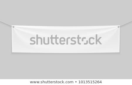 Doek banner 3d illustration geïsoleerd witte business Stockfoto © montego