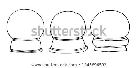 Christmas sneeuw wereldbol souvenir vector Stockfoto © pikepicture