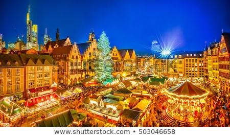 Natale mercato Francoforte sul Meno piazza Germania inverno Foto d'archivio © borisb17