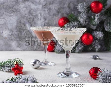 Рождества шоколадом снежинка Martini коктейль белый Сток-фото © furmanphoto