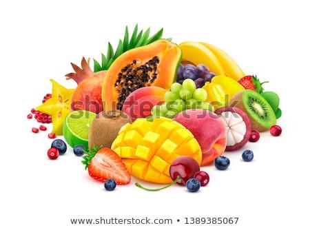 tropikal · meyve · muz · yaprak · elma · turuncu · yeşil - stok fotoğraf © galitskaya