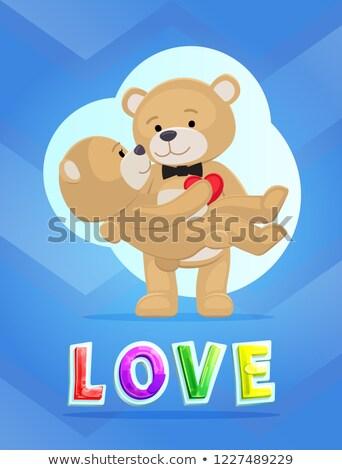 osos · de · peluche · cuatro · cute · negro · iconos · de · la · web · amor - foto stock © robuart