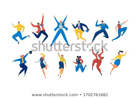 Stock photo: Celebration People, Man and Woman Dancing Vector