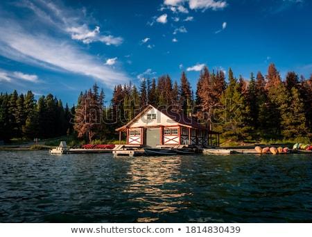 湖 家 日の出 早朝 夏 日光 ストックフォト © jsnover