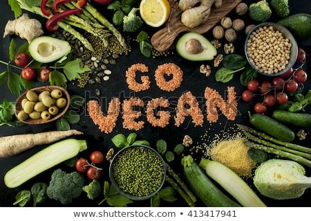 вегетарианский разнообразие свежие зеленый органический овощей Сток-фото © galitskaya