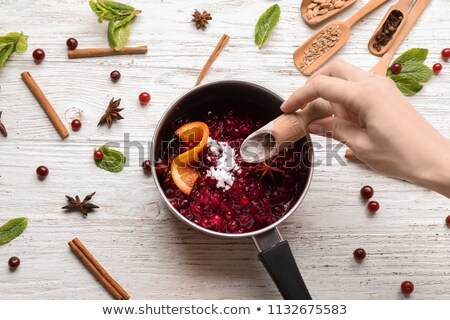Prepared Cranberry Sauce in a Pan Stock photo © StephanieFrey