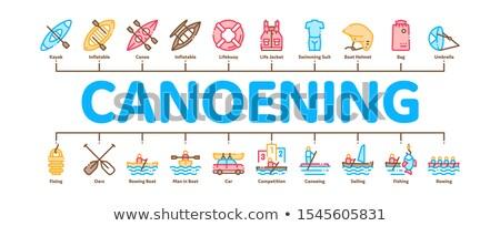 Mínimo infografía banner vector web canoa Foto stock © pikepicture
