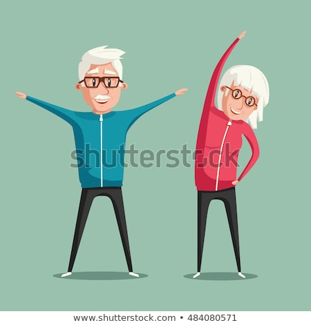activities for seniors concept vector illustration stock photo © rastudio