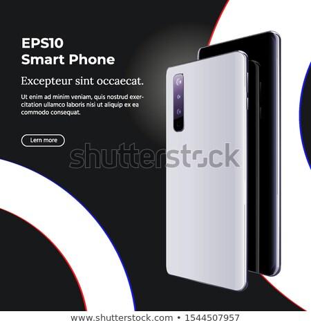 Smartphone With Multi Camera And Ultra Wide Camera On Black Background Foto stock © Tashatuvango