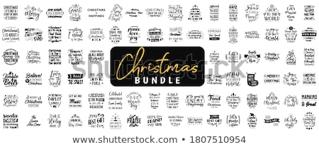 Christmas citaat denk groeien ouder Stockfoto © balasoiu