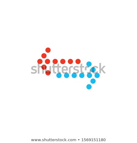 Dotted Arrows left and right. Stock Vector illustration isolated on white background. Stock photo © kyryloff