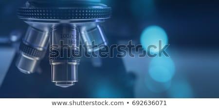 Ottico microscopio biologico laboratorio studio Foto d'archivio © galitskaya