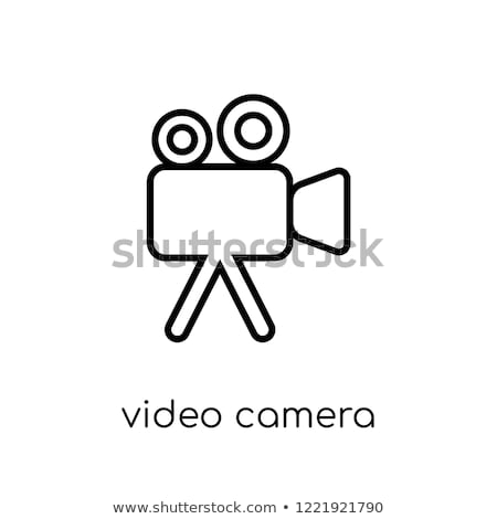 Digital Camcorder Icon Vector Outline Illustration Stock photo © pikepicture