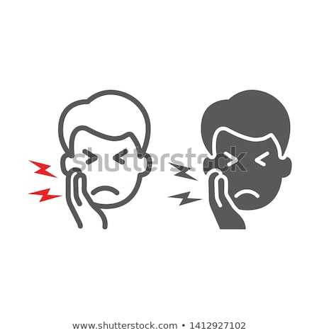 Toothache Icon Vector Outline Illustration stock photo © pikepicture