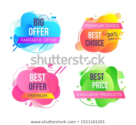Fantastic Best Offer Abstract Vector Tags Set Stock photo © robuart