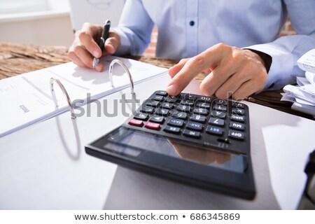 Férfi könyvelő adó közelkép asztal iroda Stock fotó © AndreyPopov